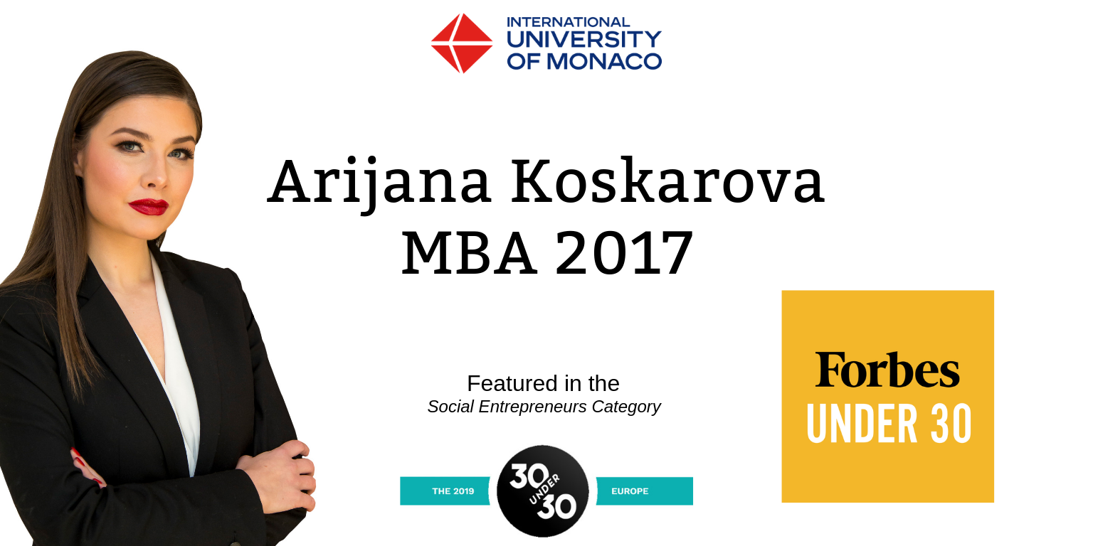 IUM alumna in the Forbes Under 30 list Europe!